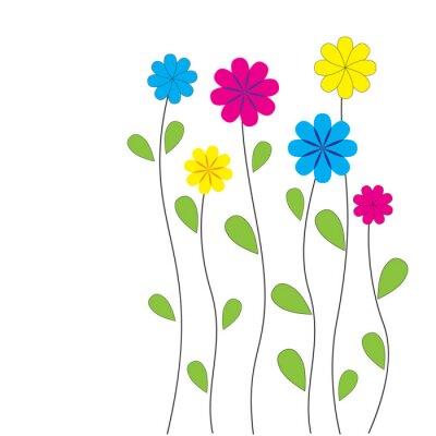 Vinilo Vector floral de fondo con el corazón