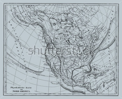 Vinilo Vector Historical map of Nord America from atlas published in 1851. Other vector maps in my portfolio.