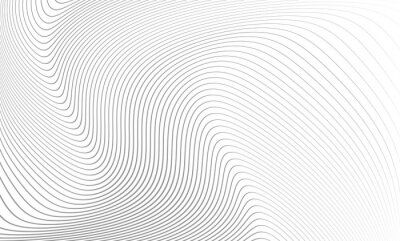 Vinilo Vector illustration of the pattern of the gray lines abstract background. EPS10.