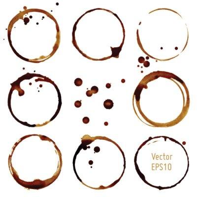Vinilo Vector manchas de café