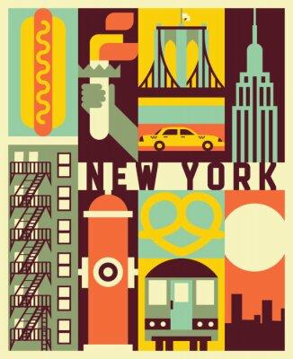 Vinilo Vector New York background