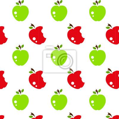 Vinilo Vector patrón transparente con manzanas abstractas