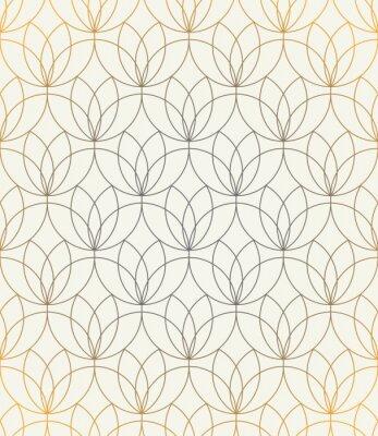Vinilo Vector patrón transparente. Ornamento con flores estilizadas. Fondo elegante geométrico. Textura de repetición moderna. Diseño gráfico moderno.