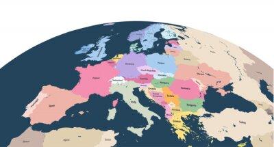 Vinilo vector planeta Tierra globo con cerca del continente Europa