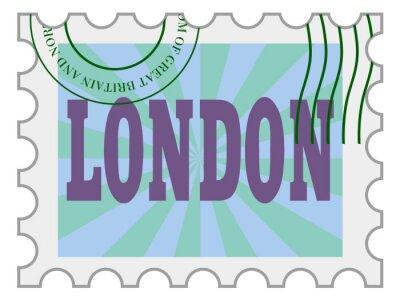 Vinilo Vector, sello de correos de Londres