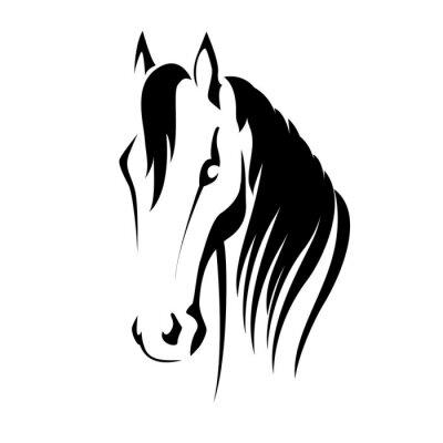 Vinilo Vector silueta de una cabeza de caballo