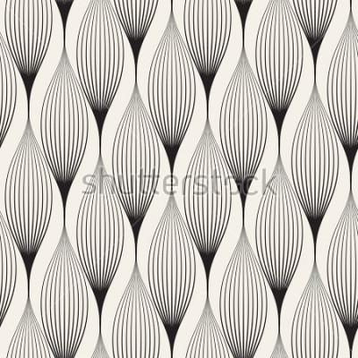 Vinilo Vector sin patrón Abstact elegante con pétalos estilizados