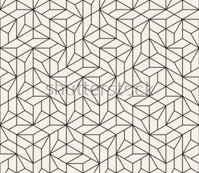 Vinilo Vector sin patrón Textura abstracta con estilo moderno. Repitiendo baldosas geométricas a partir de elementos de rayas.