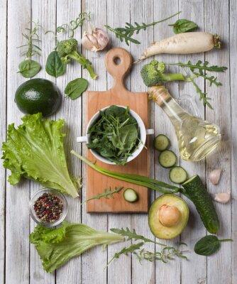 Vinilo vegetales verdes