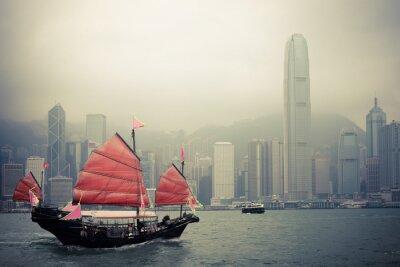 Vinilo velero de estilo chino en Hong Kong