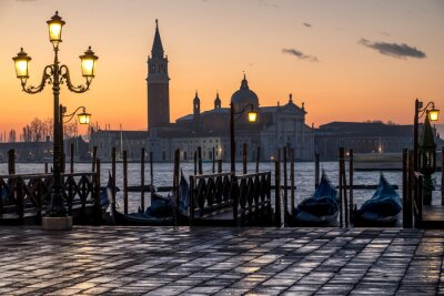 Vinilo Venecia, alba e iglesia di S. Giorgio
