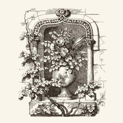 Vinilo Ventana gótica