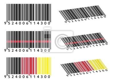 Verschiedene códigos de barras