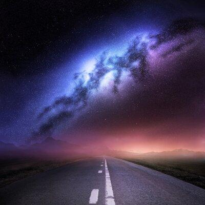 Vinilo Vía Láctea desde la Tierra