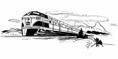 Vinilo Viajes en tren