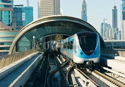 Vinilo vías del metro en los emiratos árabes unidos