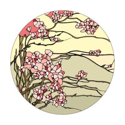 Vinilo Vidriera con sakura