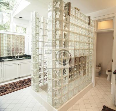 Vidrio moderno cuarto de baño y baldosas vinilos para portátiles ...