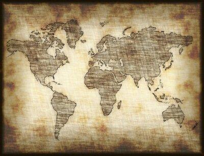 Vinilo viejo mapa