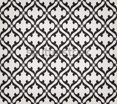 Vinilo Vintage abstracto floral de patrones sin fisuras. Intersección curva elegante estilizada hojas y rollos formando adornos florales abstractos en estilo árabe. Arabesco. Celosía decorativa