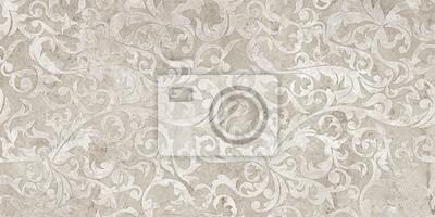 Vinilo vintage background with floral damask pattern