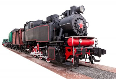 Vinilo vintage,big, steam train