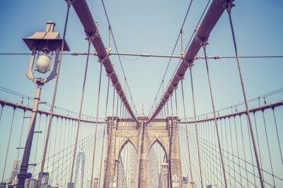 Vinilo Vintage entonó imagen del puente de Brooklyn, Nueva York.