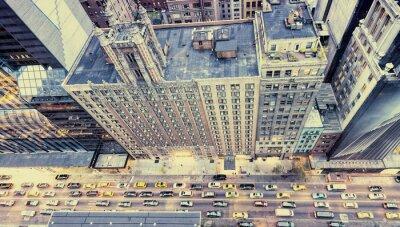 Vinilo Vintage foto de Nueva York calles de la azotea