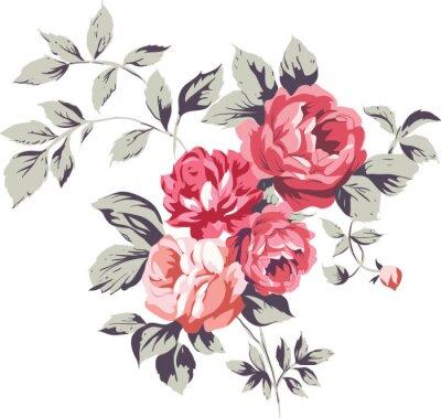 Vinilo Vintage Roses Pink