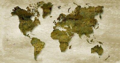 Vinilo Vintage sepia world map background