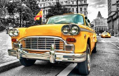 Vinilo Vintage Yellow Cab en el Bajo Manhattan - Nueva York