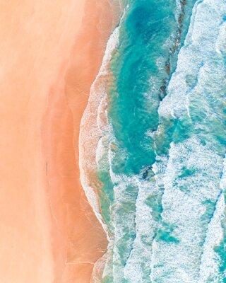 Vinilo Vista aérea de la hermosa playa australiana a lo largo de Great Ocean Road, Victoria, en verano