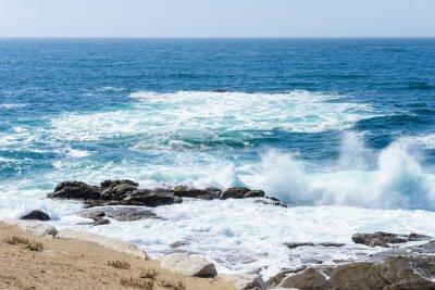 Vinilo vista de las olas en el océano
