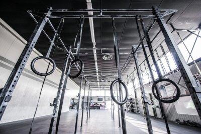 Vinilo vista del gimnasio crossfit con sol
