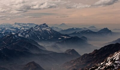 Vinilo Vista desde Hoellengebirge hacia Salzburgo, Austria