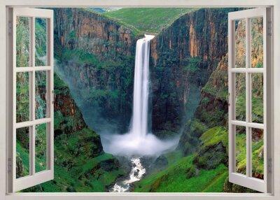 Vinilo Vista panorámica abierta a las Cataratas del Iguazú, Brasil