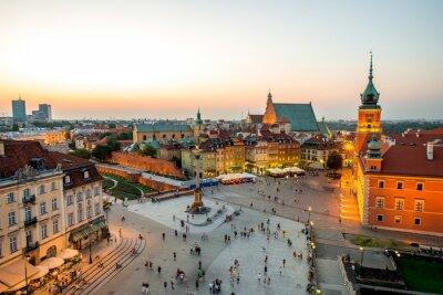 Vinilo Vista superior de la ciudad vieja de Varsovia
