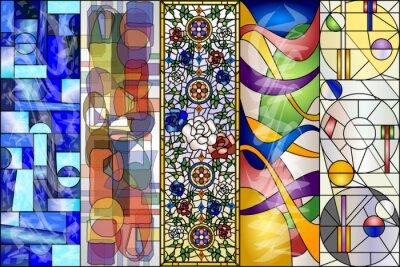 Vinilo Vitral abstracto Vintage y moderno kit de vectores de diseños