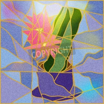 Vinilo Vitral que representa un ejemplo de la flor