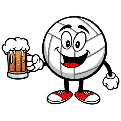 Vinilo Voleibol de la mascota con la cerveza