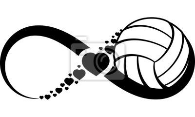 Vinilo volleyball-heart-infinity4