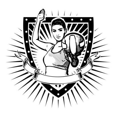 Vinilo volleyball shield