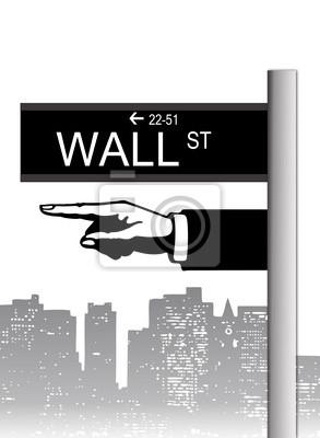 Vinilo Wall street nueva york