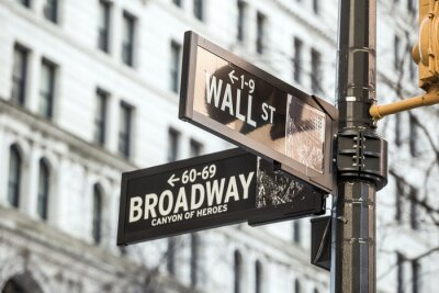 Vinilo Wall street sign in New York