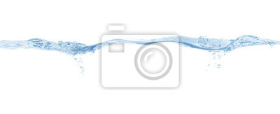 Vinilo water splash isolated on white background,beautiful splashes a clean water