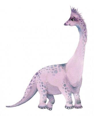 Vinilo Watercolor dinosaurs brontosaurus