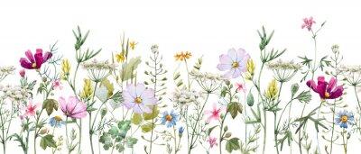 Vinilo Watercolor floral pattern