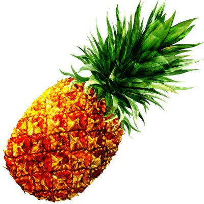 Vinilo watercolor pineapple isolated