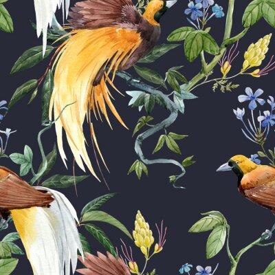 Vinilo Watercolor tropical seamless pattern