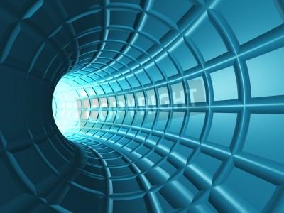 Vinilo Web Tunnel - Un túnel radial con una web en perspectiva como grid.